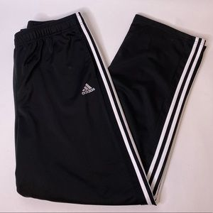 Adidas Black Drawstring Athletic Pants, 2XL